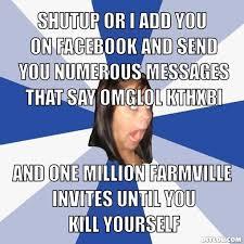 IMAGE   annoying facebook girl blank via Relatably.com