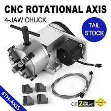 CNC <b>ROTARY</b> AXIS <b>Tailstock 50mm</b> Lathe Chuck 3-jaw for ...