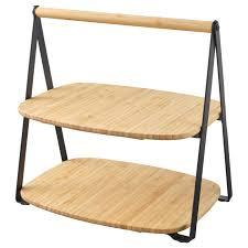 <b>Поднос</b> сервировочный, бамбук/черный 28x20 см <b>IKEA</b> ...