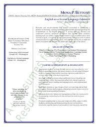 Free Resume Samples For English Teachers   Teaching Strategies happytom co