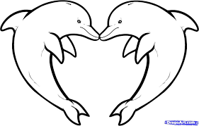 Small Picture 10 How To Draw Love Dolphins Dolphin Heart Coloring Pages For Boy