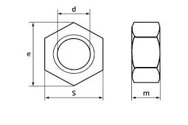 <b>Гайка шестигранная DIN 934 М10</b> 8 Zn | Агроимпорт