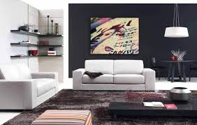 rugs living room nice: a modern living room with a low off center coffee table and a small