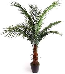 Best <b>Artificial</b> 4ft 120cm Potted <b>Phoenix Palm Tree</b> Tropical Plant ...