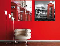 room paint red: red wall paint color and white chair upholstery fabric