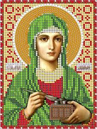 <b>Набор для вышивания</b> чешским бисером <b>Икона</b> Св. Мца Зинаида ...