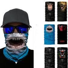 Skull <b>Joker Face Shield</b> Sun Mask Balaclava Neck Gaiter Fishing ...