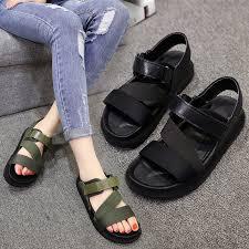 Ready Stock <b>Fashion Women</b> Sandal <b>Rome Shoes</b> Magic Muffin ...