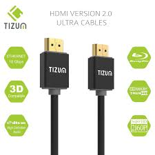 "Tizum High Speed <b>HDMI Cable</b> ""Ultra""- HDMI <b>2.0</b> -<b>Gold Plated</b>-High ..."