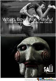 When Boys Are Playful by grantytyta - Meme Center via Relatably.com