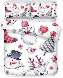 Print Bedding Sets <b>Christmas Decoration Cartoon</b> Snowman Pattern ...