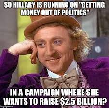 Willy Wonka on Hillary Clinton irony. - Imgflip via Relatably.com