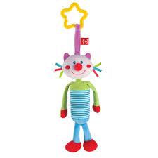 подвесная игрушка колокольчик кот