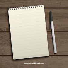 paper vectors photos and psd files realistic notepad and pen