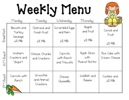 sample daycare menu templates preschool lesson 6 best images of sample daycare menus printable sample daycare menu templates sample daycare food menu and printable blank day care menus