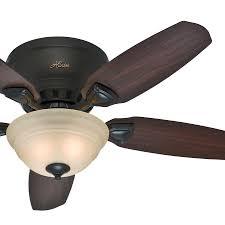 hunter fan 46 low profile premier new bronze finish ceiling fan with painted cased white bronze ceiling fan