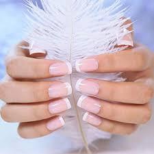 LIARTY 240pcs Artificial Natural French long <b>False</b> Nails Acrylic <b>Full</b> ...