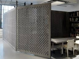 office partitions for diller scofidio renfro in laser cut felt by face design office partition designs
