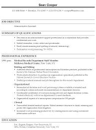 sample combination resume administrative assistant administrative assistant job resume examples