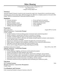 best general contractor resume example livecareer create my resume