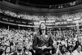 a tale of two conventions the new yorker a delegate stands during a d n c address both conventions were riven and ruled by invocations