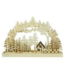 "Northlight 17"" <b>LED Lighted</b> Forest Plank Bridge Table Top Christmas ..."