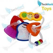 Techhark BPA Free Activity <b>Keys</b> with Light <b>Teether</b> Rattle Hi-Quality ...