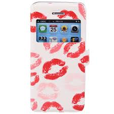 My Colors Red Lip Pattern Intelligent Phone Call View Window ...