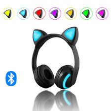 <b>Cat</b>/Devil/Deer <b>Ear</b> Headset <b>Bluetooth Headphone</b> with 7 Color ...