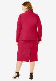 two pieces skirt suits ladies formal office uniform style business pant for women black striped blazer set plus size