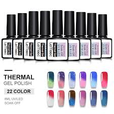 <b>LEMOOC</b> 12ml Thermal Shimmer Glitter <b>Gel Nail</b> Polish ...