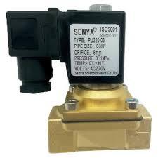 """AC 220V Electric Solenoid Valve Switch Water Air <b>G1</b>/<b>2</b>"""" <b>Brass</b> ..."""