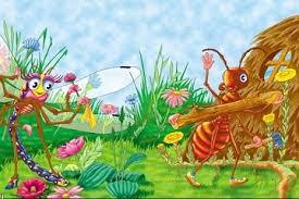 <b>Стрекоза</b> и муравей - Ивана Крылова, мораль басни, герои
