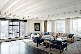 cream leather sectional living room industrial with area rug beige blue city view curtain beige sectional living room