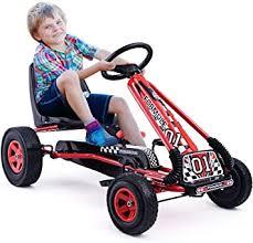 HOMGX Pedal Go Kart, Outdoor Kids <b>Pedal Go Kart with Adjustable</b> ...