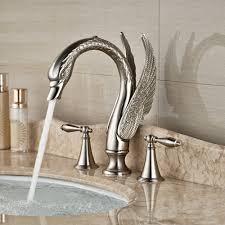 Luxury Swan Shape <b>Bathroom Bath Basin Sink</b> Faucet <b>Deck Mount</b> ...