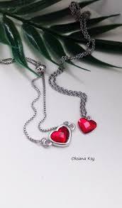 купить браслет, сердце сваровски, подарок влюбленным ...