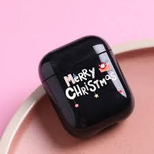 <b>Christmas</b> Tree Black Hard <b>Headphone Case</b> For Iphone Fashion ...