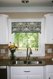 Large Kitchen Window Treatment Design Stunning Modern Kitchen With Window Treatments Small