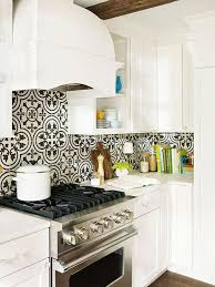 backsplash for black and white kitchen gorgeous black and white patterned backsplash tile