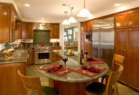 table for kitchen:  kitchen island with table