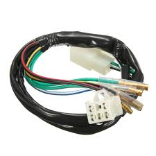 wiring harness wiring harness electric wiring harness electrical online buy whole motorcycle wiring harness from 1 set motorcycle electric wiring harness loom for 50cc