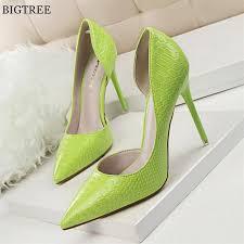 Online Shop <b>BIGTREE</b> Back Glitter Black Office Shoes Women's ...