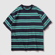 Shop <b>2019</b> Spring <b>Summer Cotton</b> Short Sleeve Blue Striped ...
