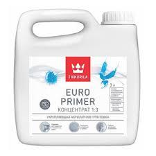 Tikkurila <b>Euro</b> Primer / Евро Праймер акриловый <b>грунт</b>-концентрат
