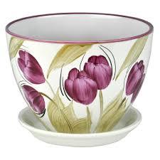 <b>Горшок керамический Венеция Тюльпаны</b> d16 см купить ...