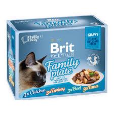 <b>Brit Premium Family</b> Plate Влажный корм в соусе 85 гр * 12 шт