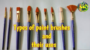<b>Types</b> of paint <b>brushes</b> and their uses# complete guide - YouTube