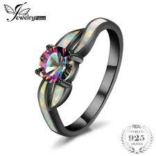 <b>JewelryPalace</b> Fashion Mystic Quartz <b>Created</b> Opal Twisted Shank ...