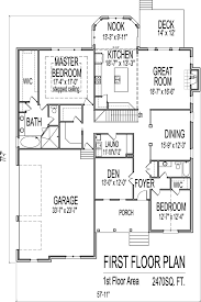 Simple Simple One Story Bedroom House Floor Plans Design      One Story Two Bedroom Traditional Stone Ranch House Plans   Basement st floor plan Atlanta Augusta